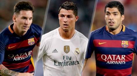 Messi, Ronaldo, dan Suarez, Tiga Kandidat Pemain Terbaik UEFA 2015