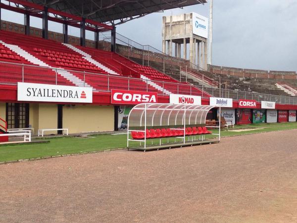 Jelang Turnamen Piala Presiden Stadion Dipta Direnovasi