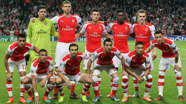 Skuad Arsenal Untuk Liga Champions
