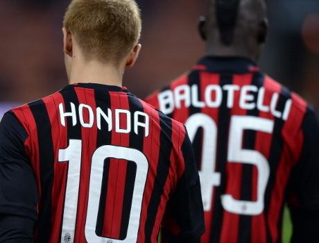 Menjamu Napoli, Rossoneri Mungkin Tanpa Honda dan Balotelli