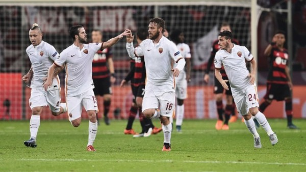 Partai Antara Leverkusen vs Roma Di Akhiri Dengan Hasil Imbang